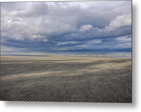 Low Tide Sandscape Metal Print