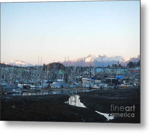Low Tide In Winter Metal Print