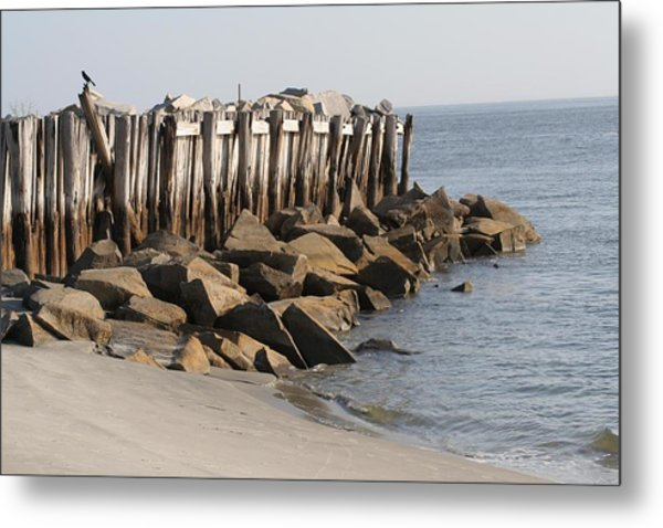 Low Tide On Sullivans Island Metal Print