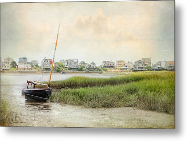 Low Tide On The Basin Metal Print