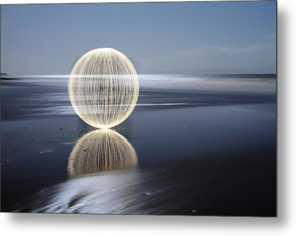 Low Tide Reflection Metal Print by Andrew John Wells