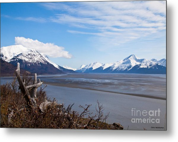 Low Tide Turnagain Arm Metal Print by Chris Heitstuman