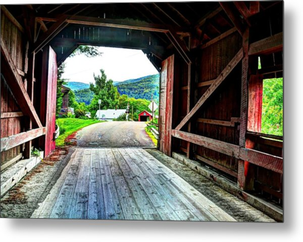 Lower Covered Bridge Metal Print