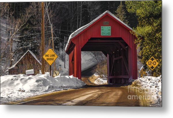 Lower Covered Bridge. Metal Print