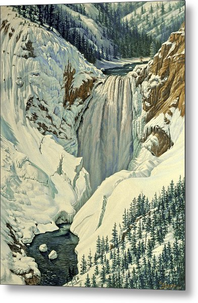 Lower Falls-april Metal Print