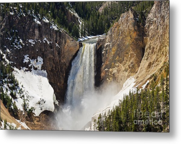 Lower Falls Of The Yellowstone Metal Print
