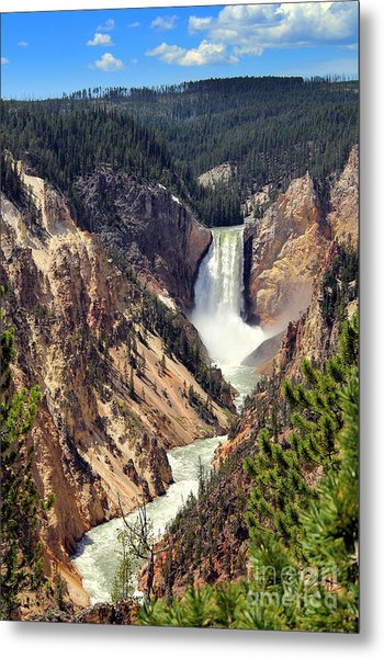 Metal Print featuring the photograph Lower Falls Of Yellowstone by Jemmy Archer