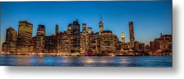 Lower Manhattan At Night Metal Print