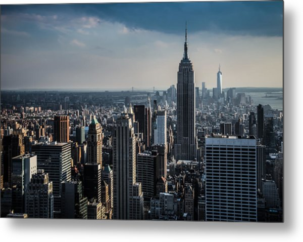 Lower Manhattan Featuring The Empire State Building Metal Print