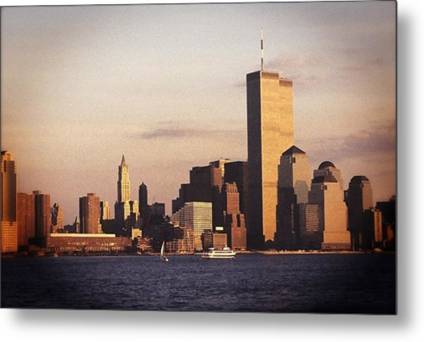 Lower Manhattan World Trade Center Metal Print