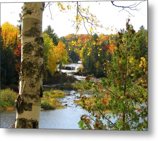 Lower Tahquamenon Falls In October No 1 Metal Print