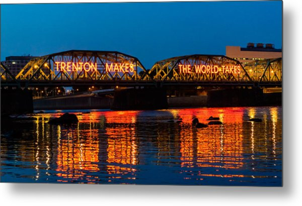Lower Trenton Bridge Metal Print