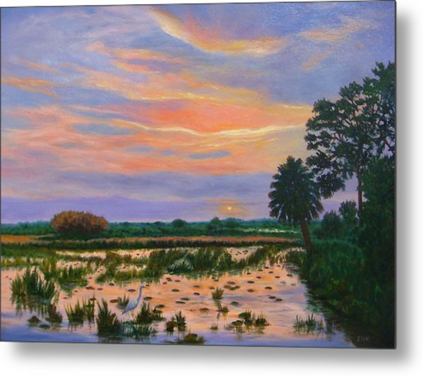 Loxahatchee Sunset Metal Print