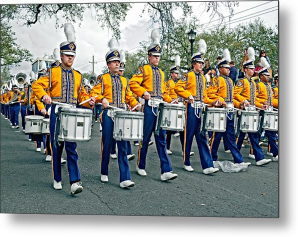 Lsu Marching Band Metal Print