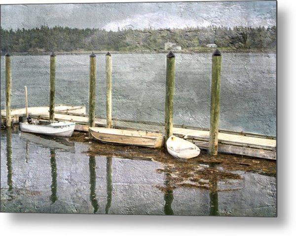 Lubec - Maine Boat Dock  Metal Print