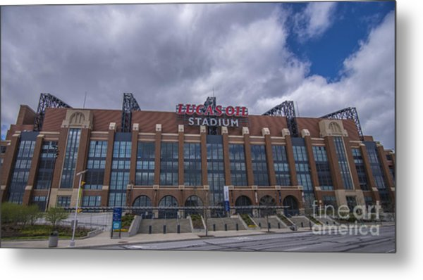Lucas Oil Stadium Indianapolis Colts Clouds Metal Print