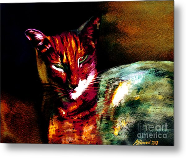 Lucifer Sam Tiger Cat Metal Print