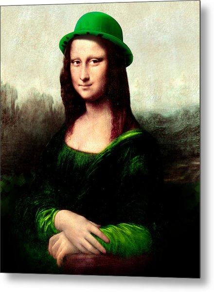 Lucky Mona Lisa Metal Print