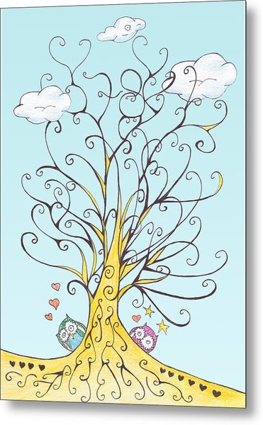 Lucky Number 78 Tree Metal Print