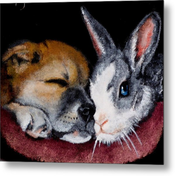 Lucy And Oliver Metal Print