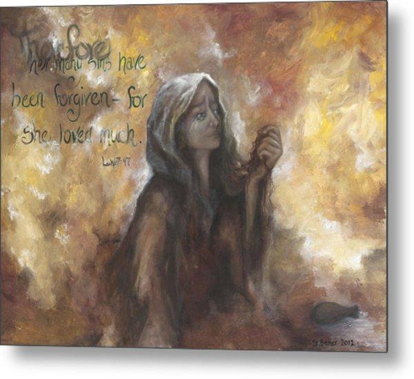 Luke 7 Verse 47 Forgiveness Metal Print