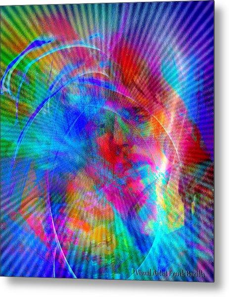 Metal Print featuring the digital art Luke by Visual Artist Frank Bonilla
