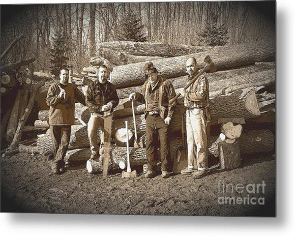 Lumberjacks Metal Print by Robert Kleppin