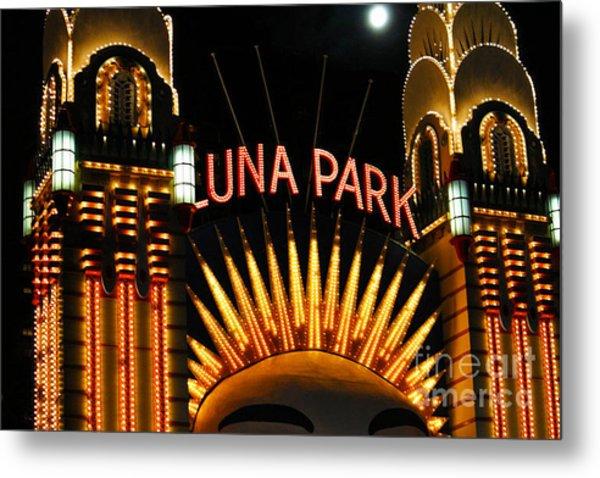 Luna Park In Sydney Metal Print by Cheryl Boutwell