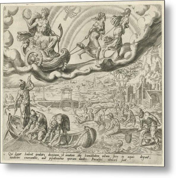 Luna, The Moon, And Her Children, Harmen Jansz Muller Metal Print