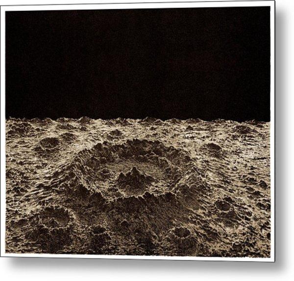 Lunar Crater Metal Print