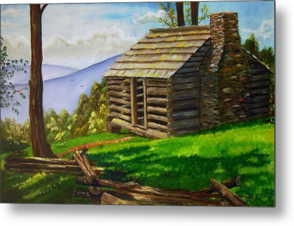 Lunch At An Old Cabin In The Blue Ridge Metal Print
