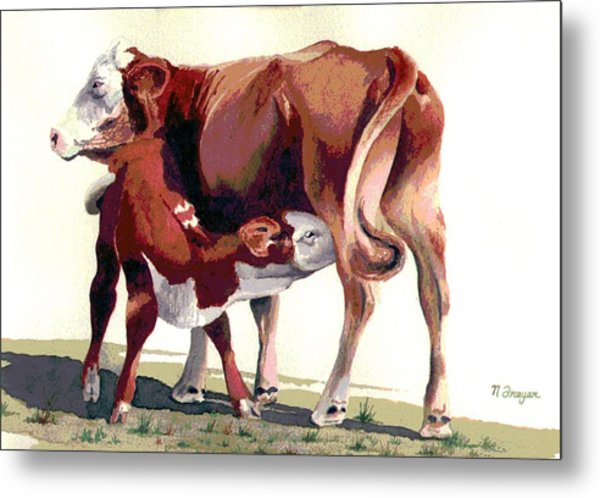 Lunch Time On The Range Metal Print