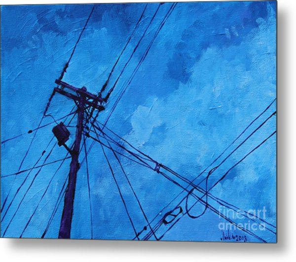 Lunchtime Telephone Pole Metal Print