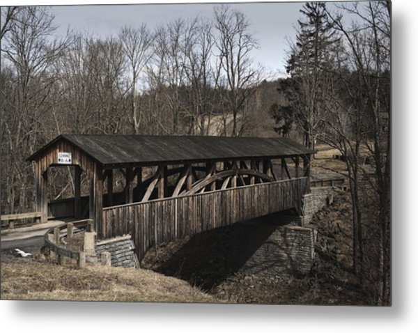 Luther's Mill Covered Bridge Metal Print
