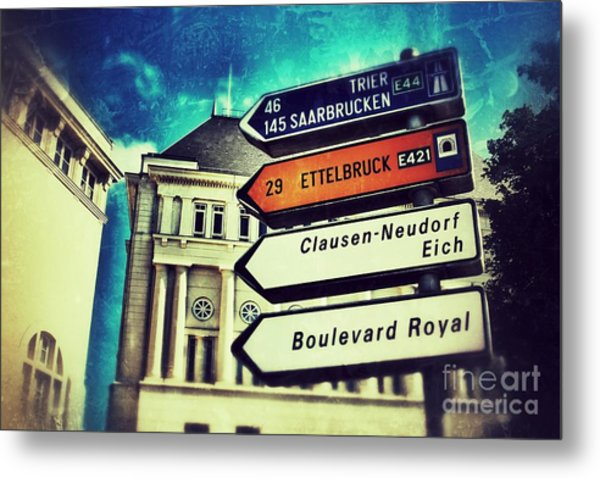 Luxembourg City Metal Print