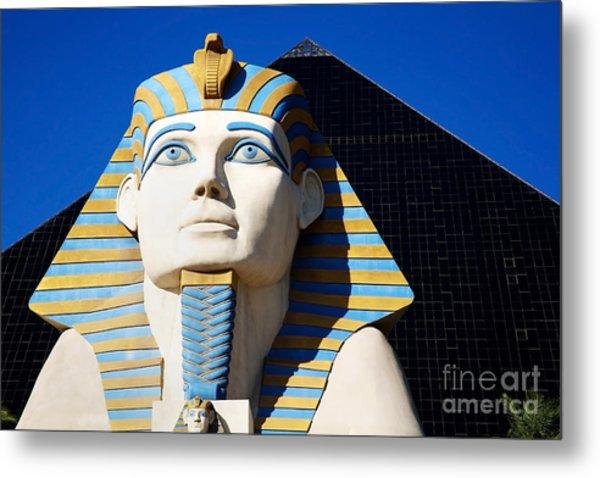 Luxor Las Vegas Sphinx Metal Print
