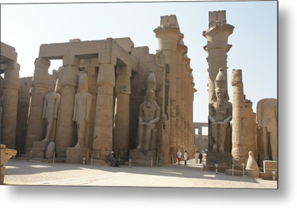 Luxor Temple Metal Print