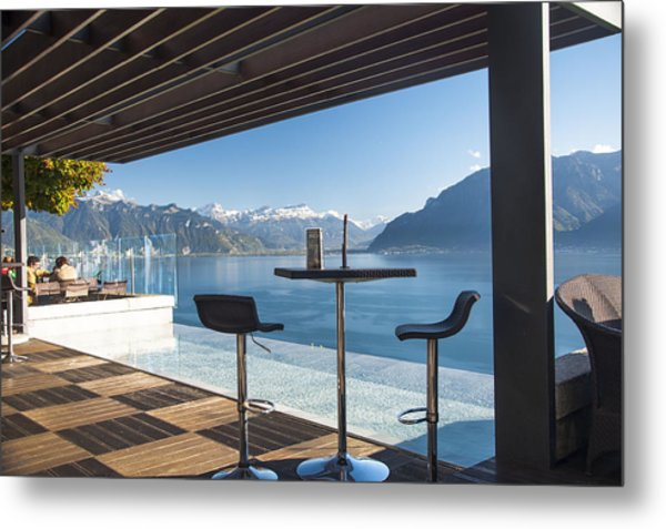 Luxury Swiss View Metal Print