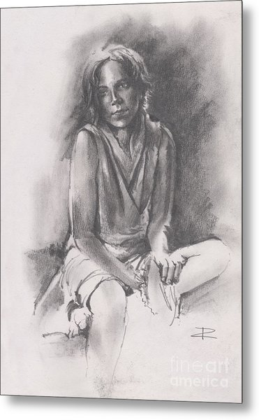 Lydia Sketch Metal Print