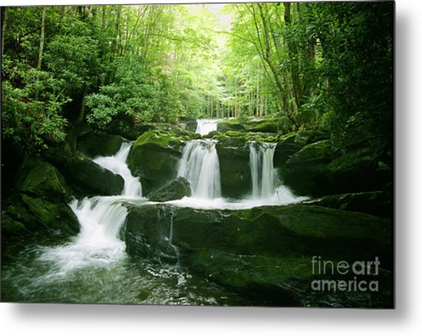 Lynn Camp Prong Falls Metal Print