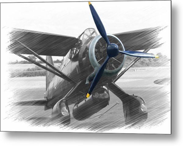 Lysander In Readiness Metal Print by Donald Turner