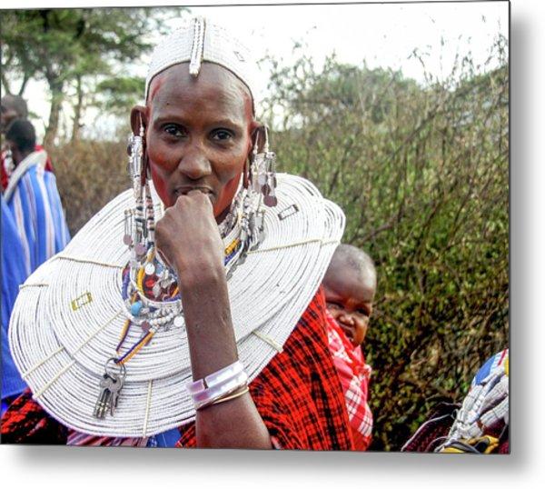 Maasai Meeting Of The Elders Metal Print
