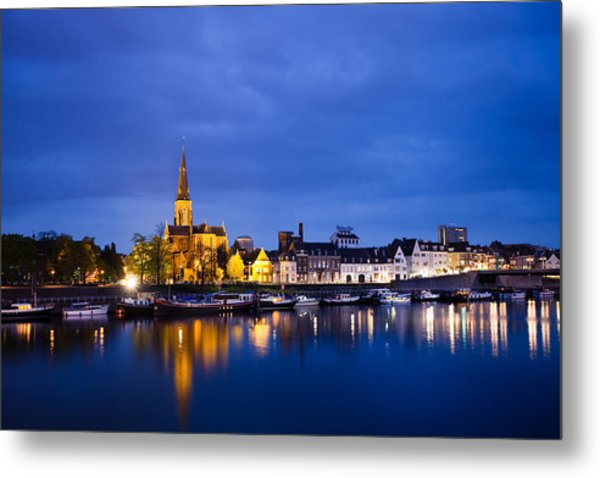 Maastricht Sint-martinuskerk And Maas River Metal Print