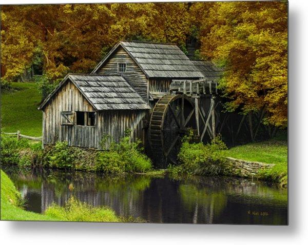 Mabry Mill In Autumn Metal Print
