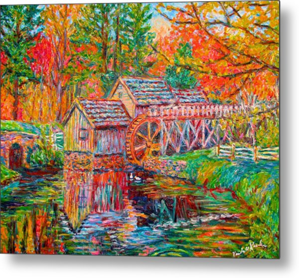 Mabry Mill In Fall Metal Print
