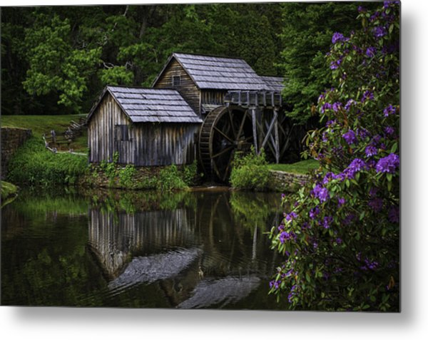 Mabry Mill In Spring Metal Print
