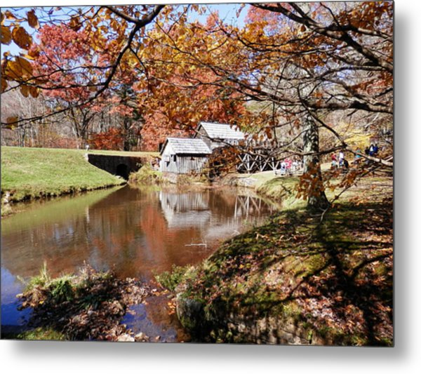 Mabry's Mill In October Metal Print