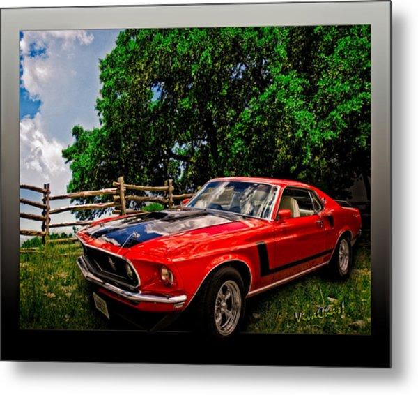 1969 Ford Mach 1 Mustang Metal Print