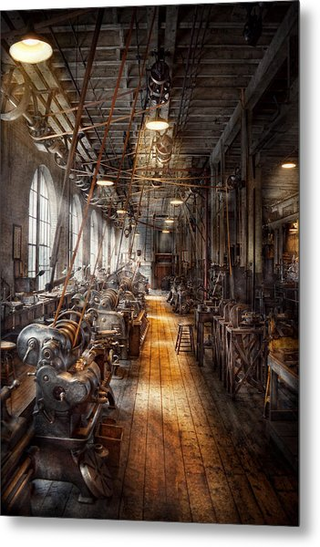 Machinist - Welcome To The Workshop Metal Print