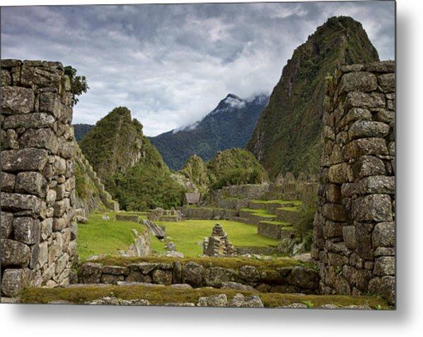 Machu Picchu Through The Roof Metal Print